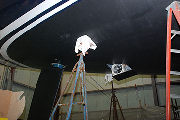 Hydraulic retracting stern thruster  installed during  2013-14 winter refit.