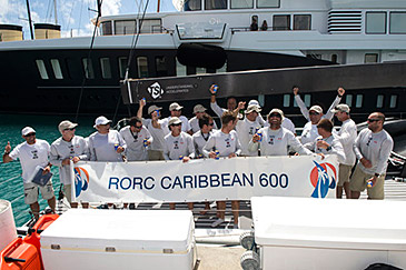 Bella Mente celebrates as Overall Winner of RORC Caribbean 600 Race