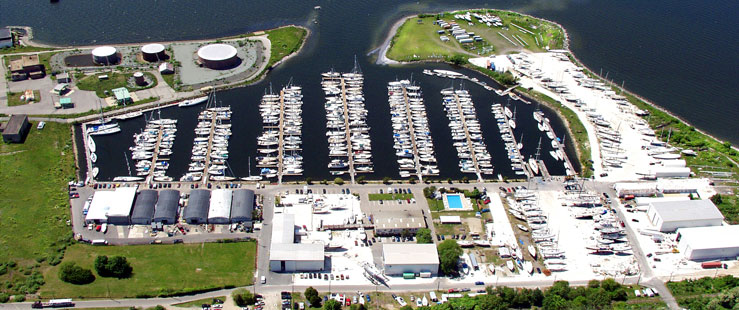 East Passage Yachting Center full-service marina and haulout yard