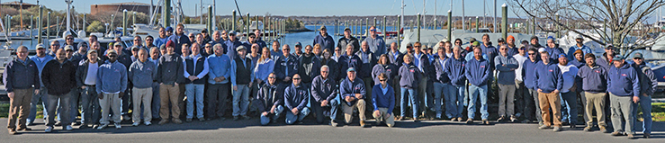 the new england boatworks team