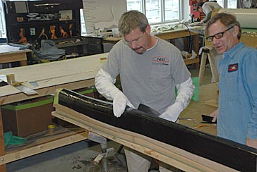 Pre-preg carbon rudder for a new Stephens, Waring & White designed Brooklin 68.